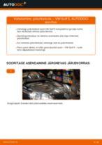 Asendamine Piduriketas VW GOLF: käsiraamatute