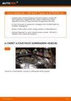 VW GOLF V (1K1) Kerékfordulatszám jeladó beszerelése - lépésről-lépésre útmutató