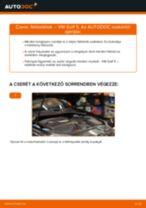 Hátsó fékbetétek-csere VW Golf 5 gépkocsin – Útmutató