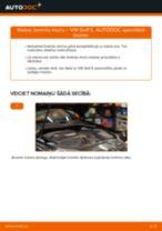 Kā nomainīt: aizmugures bremžu klučus VW Golf 5 - nomaiņas ceļvedis