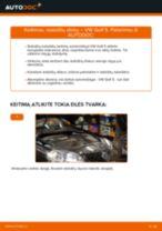 Kaip pakeisti VW Golf 5 stabdžių diskų: priekis - keitimo instrukcija