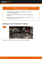 Kaip pakeisti VW Golf 5 stabdžių trinkeliu: galas - keitimo instrukcija