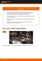 Manualul online pentru schimbarea Set discuri frana la VW GOLF V (1K1)