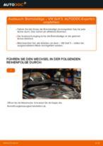 VW GOLF V (1K1) Bremsbeläge vorderachse und hinterachse austauschen: Anweisung pdf