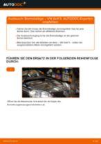 VW GOLF V (1K1) Scheibenbremsbeläge: Online-Anweisung zum selbstständigen Ersetzen