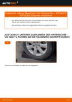 Wie Achslenker VW GOLF wechseln und einstellen: PDF-Leitfaden