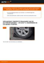 Hoe onderste draagarm van de achterophanging vervangen bij een VW Golf 5 – vervangingshandleiding