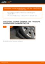 Hoe voorste onderste arm vervangen bij een VW Golf 5 – Leidraad voor bij het vervangen