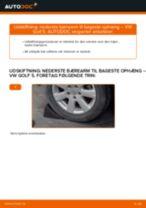 Udskift nederste bærearm til bageste ophæng - VW Golf 5 | Brugeranvisning