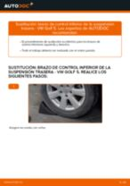 Cómo cambiar: brazo de control inferior de la suspensión trasera - VW Golf 5 | Guía de sustitución