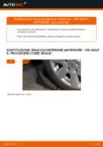 Come cambiare braccio inferiore anteriore su VW Golf 5 - Guida alla sostituzione