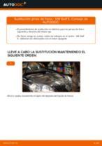 Cómo cambiar: pinza de freno de la parte trasera - VW Golf 5 | Guía de sustitución