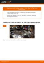 VW GOLF V (1K1) change Brake Caliper Bracket front left right: guide pdf