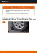 Jak wymienić wahacz poprzeczny dolny tylnego zawieszenia w VW Golf 5 - poradnik naprawy