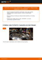 Ako vymeniť predné brzdové platničky na VW Golf 5 – návod na výmenu