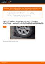 Kako zamenjati avtodel spodnja kontrolna roka zadnjega vzmetenja na avtu VW Golf 5 – vodnik menjave