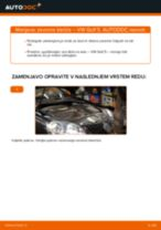Kako zamenjati avtodel zavorne klešče zadaj na avtu VW Golf 5 – vodnik menjave