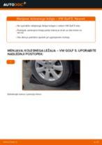 Kako zamenjati avtodel kolesni ležaji zadaj na avtu VW Golf 5 – vodnik menjave