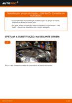 Como mudar pinças de travão da parte traseira em VW Golf 5 - guia de substituição