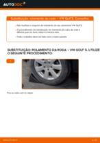 Substituindo Jogo de rolamentos de roda em VW GOLF V (1K1) - dicas e truques