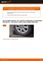 Cum se înlocuiesc și se ajustează Brat oscilant VW GOLF: manual pdf