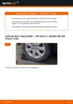 Wie VW Golf 5 Radlager hinten wechseln - Schritt für Schritt Anleitung