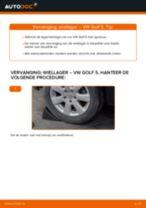 Hoe wiellager achteraan vervangen bij een VW Golf 5 – vervangingshandleiding