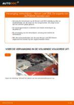 Hoe Remschijven veranderen en installeren NISSAN LEAF: pdf handleiding