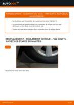 Comment changer : roulement de roue avant sur VW Golf 5 - Guide de remplacement