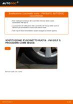 Come cambiare cuscinetto ruota della parte anteriore su VW Golf 5 - Guida alla sostituzione