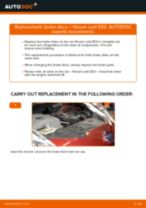 Step by step PDF-tutorial on Poly V-Belt NISSAN LEAF replacement