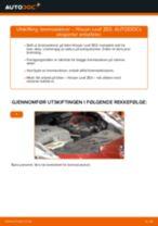 Hvordan bytte og justere Bremseskiver NISSAN LEAF: pdf håndbøker