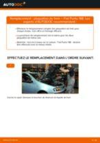 Comment changer : plaquettes de frein avant sur Fiat Punto 188 - Guide de remplacement