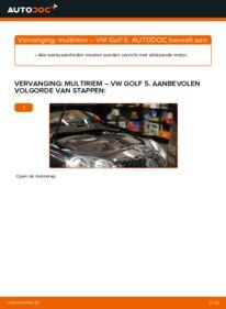 Vervangen: Multiriem VW GOLF