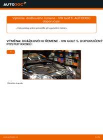 Jak provést výměnu: Klinovy zebrovany remen na 1.9 TDI Golf 5