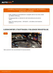 Slik bytter du Bremseklosser på VW GOLF
