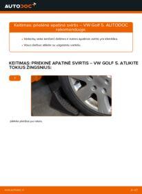 Kaip atlikti keitimą: 1.9 TDI Golf 5 Vikšro Valdymo Svirtis