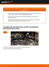 Wie der Wechsel durchführt wird: Bremsbeläge 1.9 TDI Golf 5 tauschen