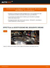 Come effettuare una sostituzione di Pastiglie Freno su 1.9 TDI Golf 5