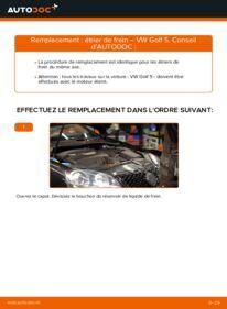 Comment effectuer un remplacement de Étrier De Frein sur 1.9 TDI VW Golf V