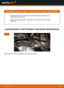 Slik bytter du Bremsecaliper på VW GOLF