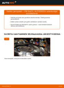 Kuinka vaihtaa Jarrupalat 1.9 TDI Golf 5 -autoon