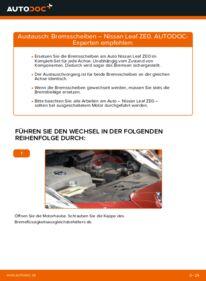 Wie der Wechsel durchführt wird: Bremsscheiben Elektrik NISSAN LEAF tauschen
