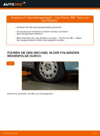 Wie der Wechsel durchführt wird: Spurstangenkopf Fiat Punto 188 1.2 60 1.2 16V 80 1.3 JTD 16V tauschen