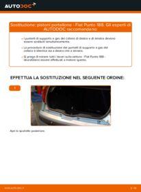 Come effettuare una sostituzione di Pistoni Portellone su 1.2 60 Fiat Punto 188