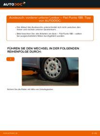 Wie der Wechsel durchführt wird: Querlenker Fiat Punto 188 1.2 60 1.2 16V 80 1.3 JTD 16V tauschen