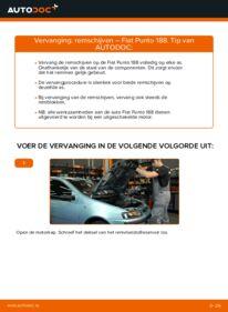 Vervanging uitvoeren: Remschijven 1.2 60 Fiat Punto 188