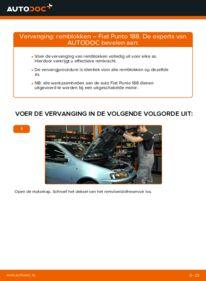 Vervanging uitvoeren: Remblokken 1.2 60 Fiat Punto 188