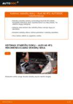 Kaip pakeisti Audi A6 4F2 stabdžių diskų: priekis - keitimo instrukcija