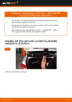PDF Wechsel Anleitung: Kofferraum Dämpfer AUDI A6 Limousine (4F2, C6) elektrisch